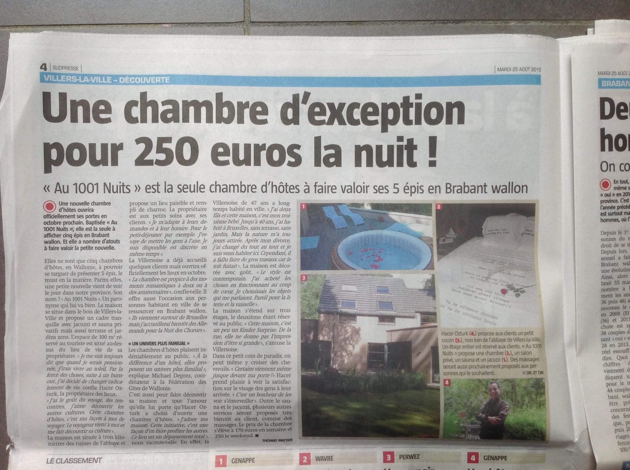 article sudpress sur Au 1001 Nuits